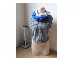 Oneindige sjaal in 2 kleuren