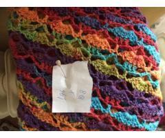Omslagdoek in frisse kleuren
