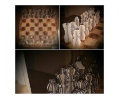 Uniek handgemaakt schaakspel