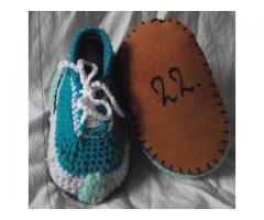 sneakers slofjes gehaakt