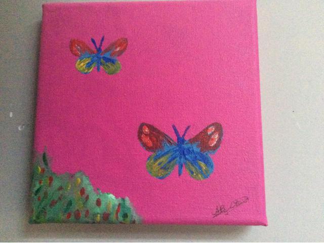 Schilderijtjes, handgeschilderd, leuk voor op kinderkamer