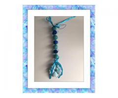 Geursteen hanger blauw