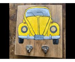 Sleutel bordje steigerhout  sleutelrekje kapstok