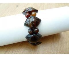 Robuuste Botswana agaat stretch edelsteen armband -  GemChristina AG4261