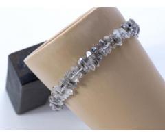 Herkimer diamant bergkristal edelsteen armband 925 sterling zilver - GemChristina HED1268
