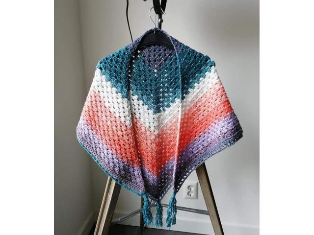 Omslagdoek in vrolijke kleuren