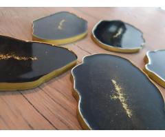 Onderzetters 5 stuks resin/epoxy