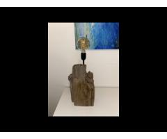 Mooie lamp van drijfhout
