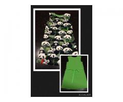 Vrolijke panda jurk