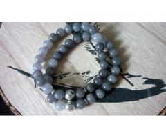Gray Agate herenarmband