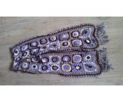 Granny squares sjaal met franjes
