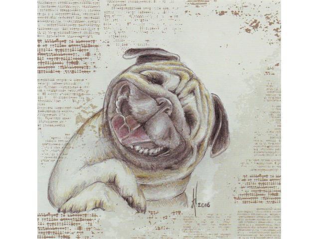 Lachende Bulldog
