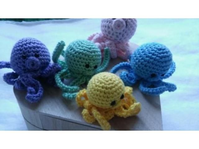 Mini-Octopusjes voor boxmobiel (5 stuks)