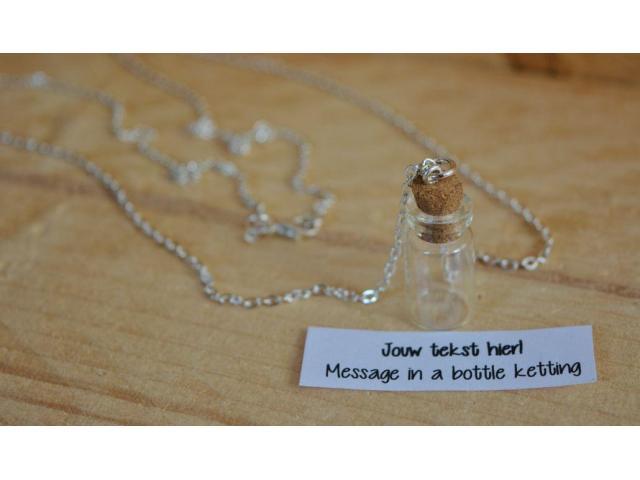 Message in a bottle ketting - bijzonder cadeautje