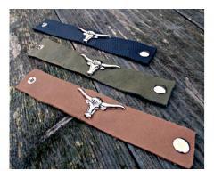 leren buffel armbanden