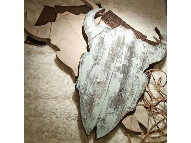 Steiger houten buffel skull
