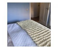 Lontwollen deken/plaid van Zuid Amerikaanse Lontwol