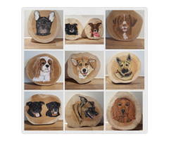 Portret van uw huisdier op hout