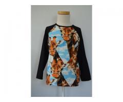 Shirt met giraffe print