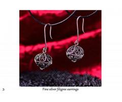 fine silver filigree earrings