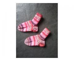 Handgebreide sokken maat 22-23