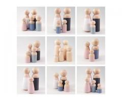 Familie houten popjes